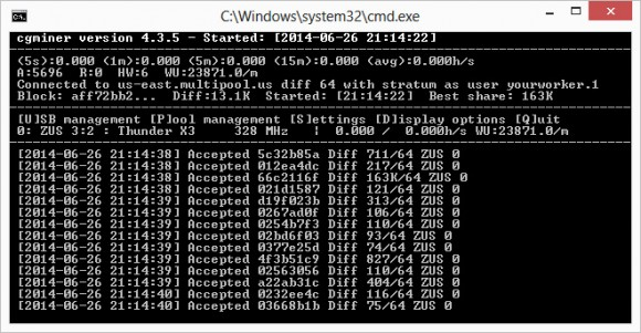 cloud mining cgminer