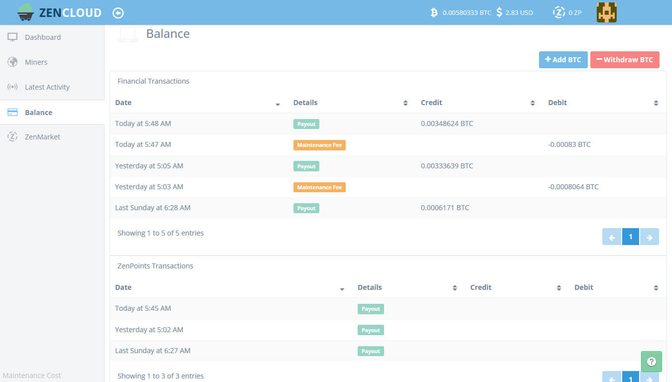 cloud mining with miner