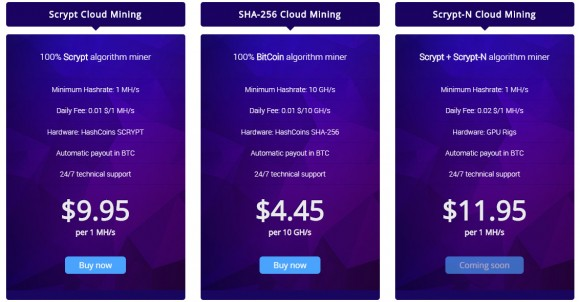 hashcoins cloud mining