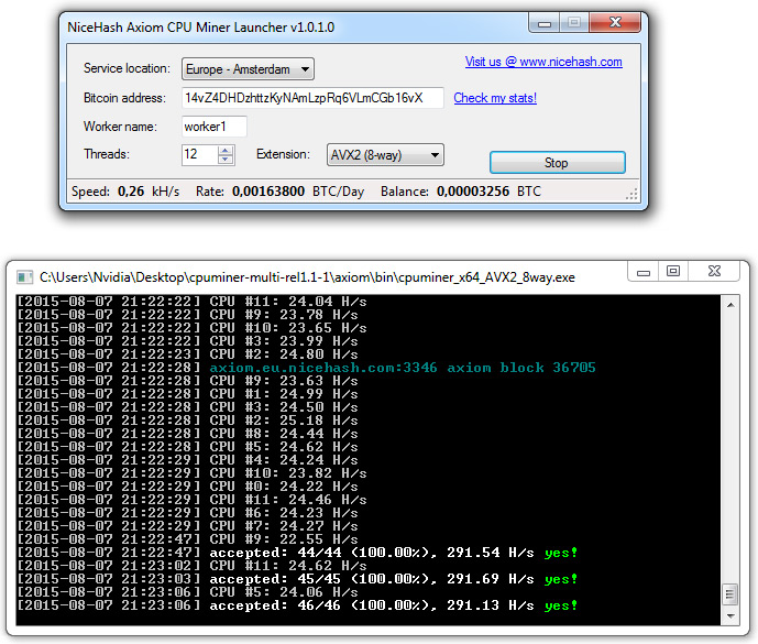 Bitcoin cpu miner software / Bitcoin processing speed