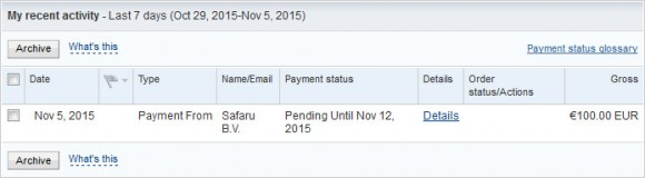 bitwala-paypa-echeck-payment