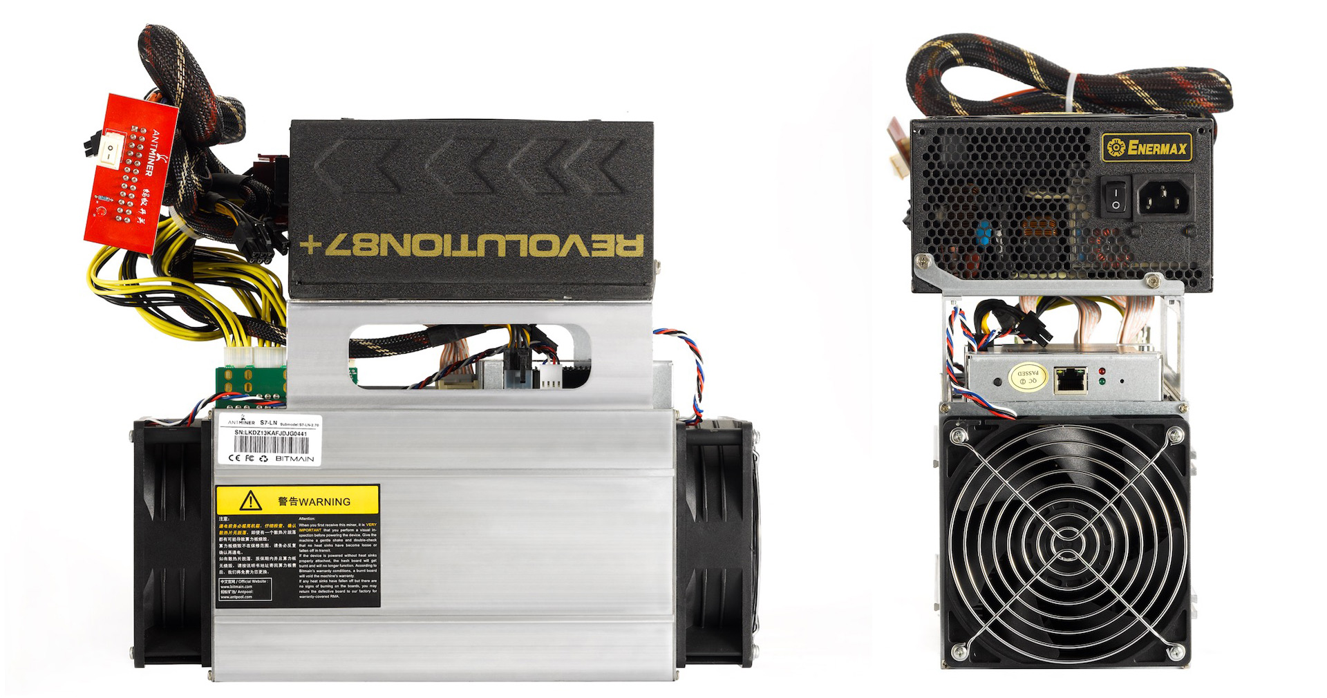 Bitmain Now Offering AntMiner S7-LN with 1KW ATX Power Supply ...