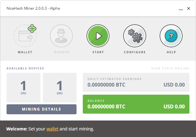 A Quick Look at the NiceHash Miner 2.0.0.3 Alpha | Bitcoin ...