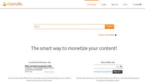 coinurl-crypto-url-shortening-service