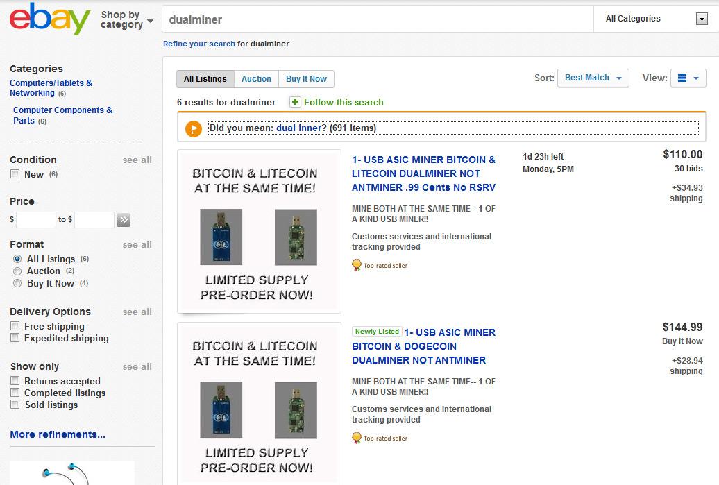 cryptocurrency mining ebay