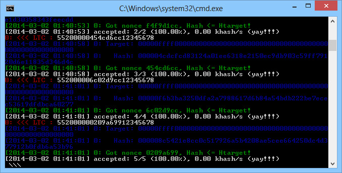 Download cpuminer for Gridseed 5-chip GC3355 ASICs with