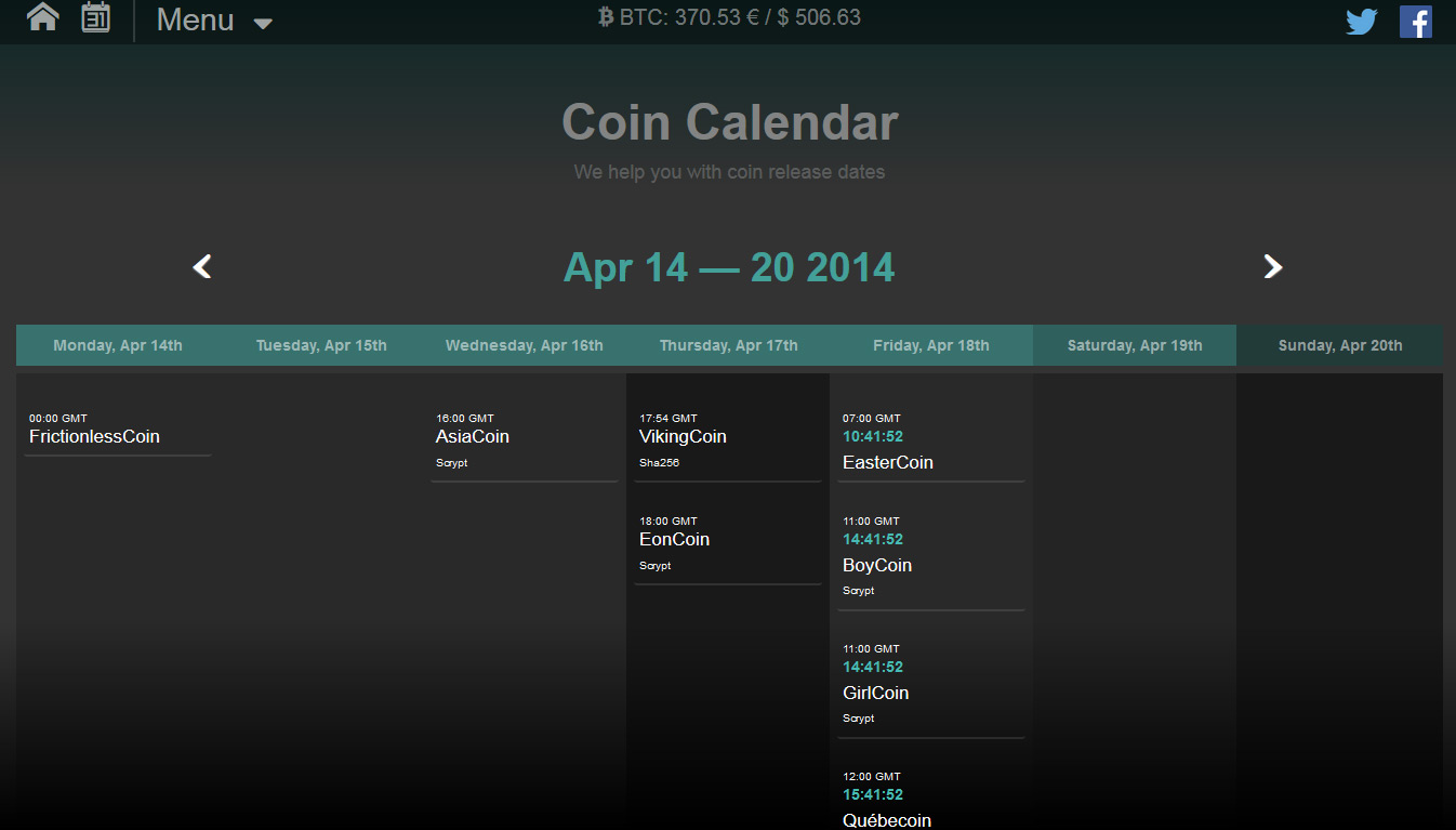 promising cryptocurrency 2021 calendar