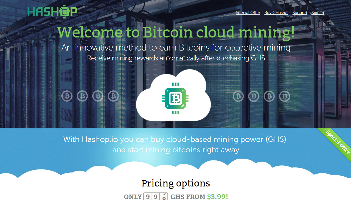 Checking Out Hashop A New Bitcoin Cloud Mining Platform Crypto Mining Blog