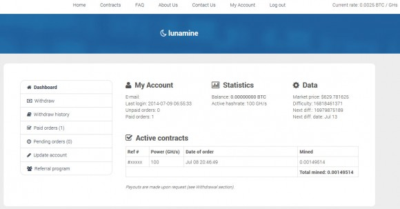 lunamine-logged-in-dashboard