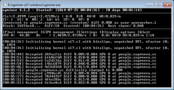sgminer-x17-windows