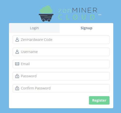 zenminer-cloud-signup