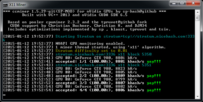 Updated Windows Binary Of The Ccminer 1 5 29 Git Fork By Sp For Maxwell Crypto Mining Blog