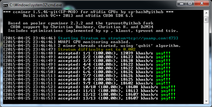 Updated Windows Binary of the ccMiner 1 5 46-git Fork by SP for