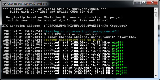 Updated ccMiner 1 6 2-git fork by tpruvot Now Available - Crypto