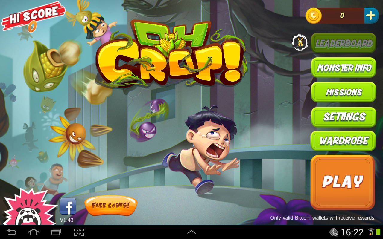 Oh crop free game for android with bitcoin rewards crypto mining blog oh crop bitcoin game 1 ccuart Image collections