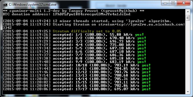 cpuminer-multi lyra2 - Crypto Mining Blog