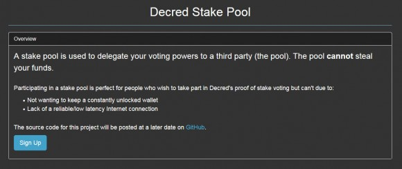 decred-stake-pool-mainnet