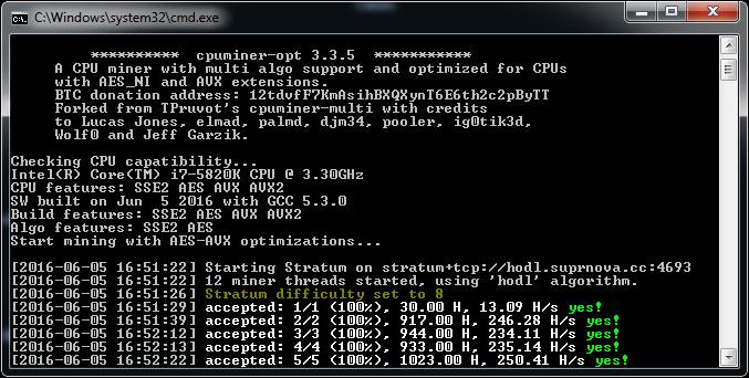 HODL CPU miner (3) - Crypto Mining Blog