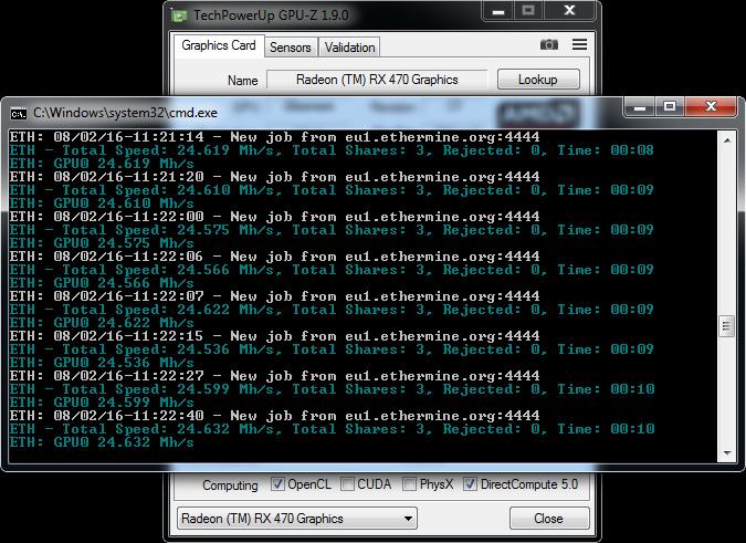 AMD Radeon RX 470 ethash hashrate - Crypto Mining Blog