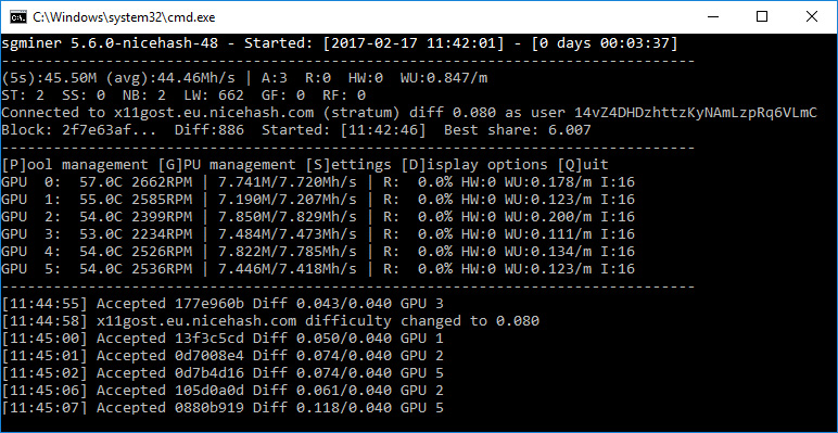 Use the sgminer 5 6 0 Nicehash Fork for X11-Gost (SIBCoin) Mining