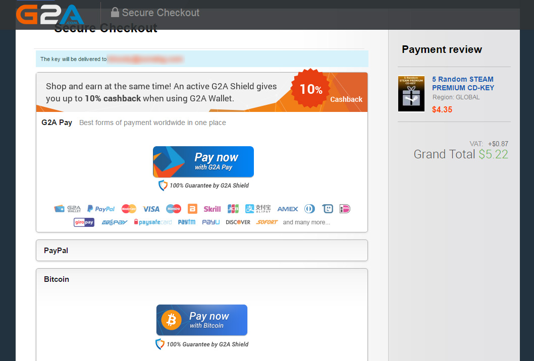 g2a paying with bitcoin crypto mining blog