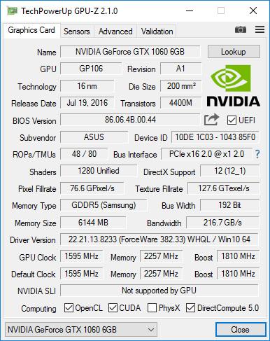GeForce GTX 1060 - Crypto Mining Blog