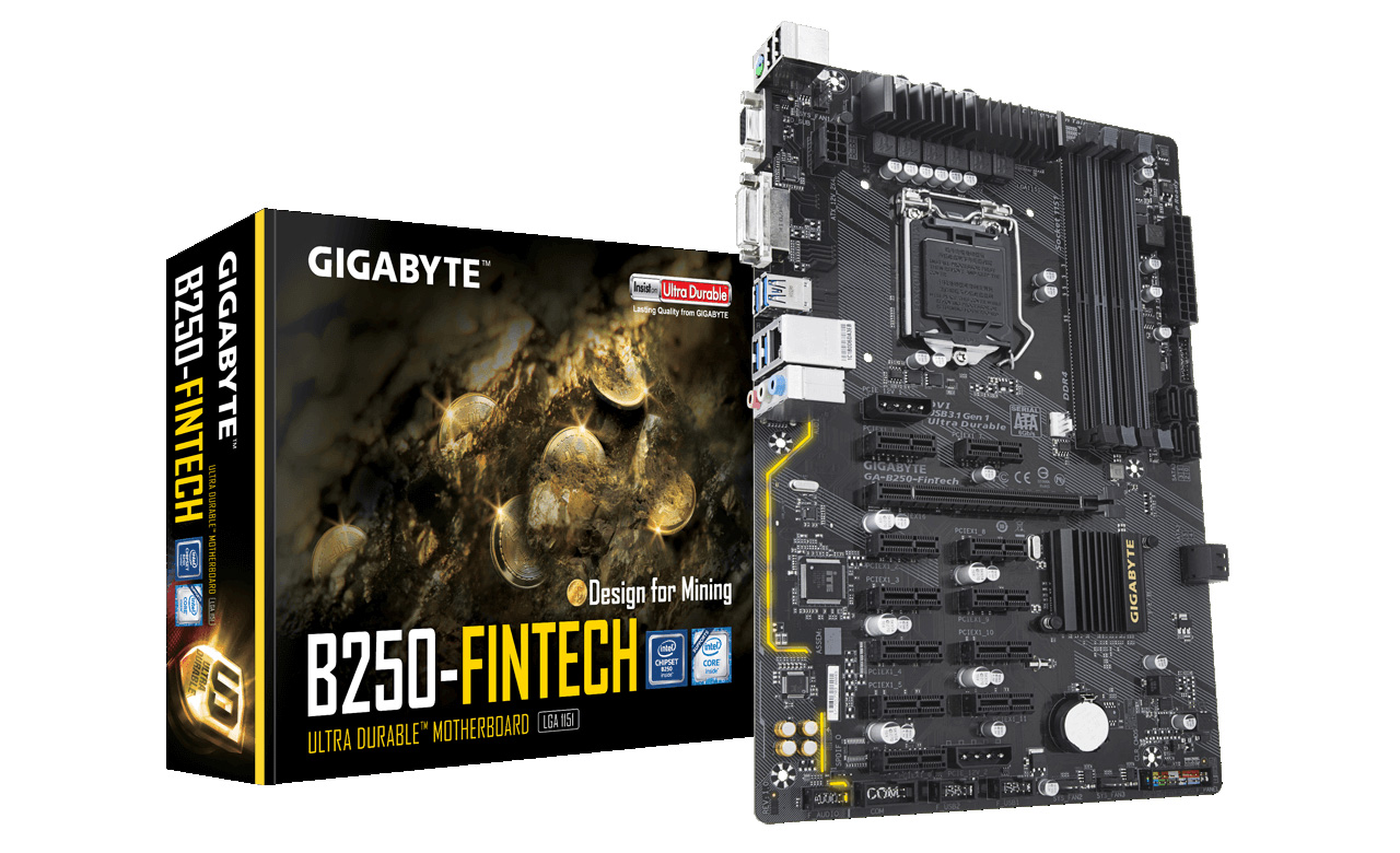 Octominer B8Plus 8 PCIe Slot Mining Motherboard with on board CPU with 4 GB RAM