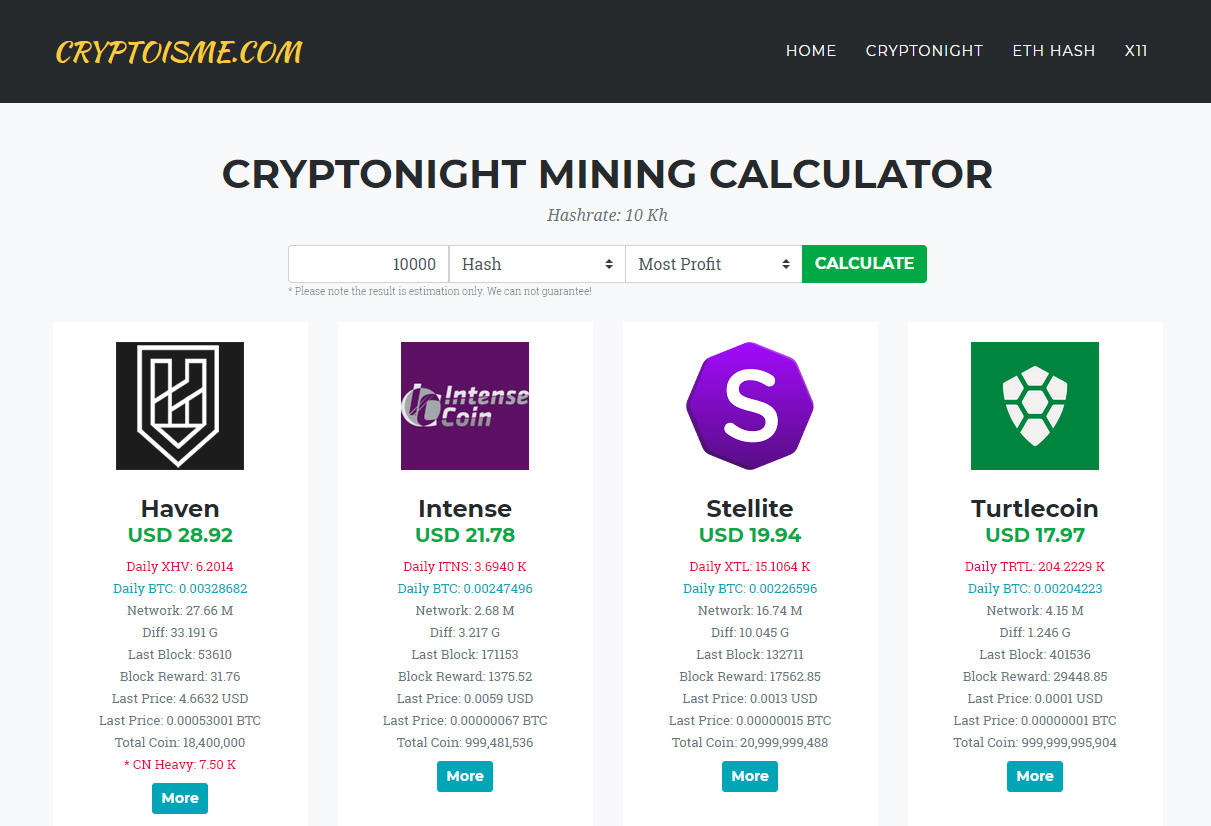 Cryptonight What To Mine Crypto Mining Blog Please note that calculations are based on mean values, therefore your final results may vary. crypto mining blog