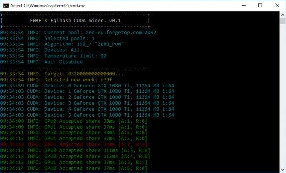 EWBF Cuda Equihash Miner v0.1 - новый майнер для добычи монет на GPU