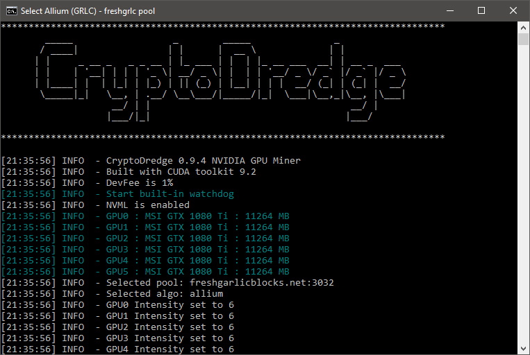 CryptoDredge 0 9 4 Nvidia Miner With a Number of New