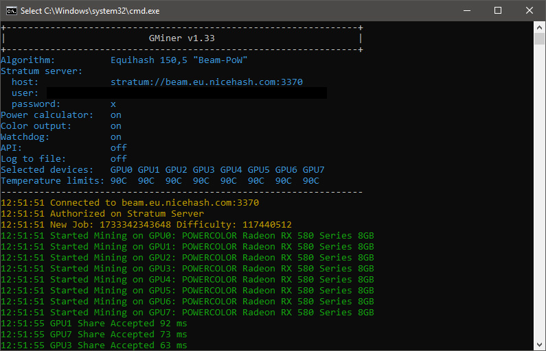 GMiner CUDA Equihash Miner v1 33 With AMD Support for Beam and Fixes