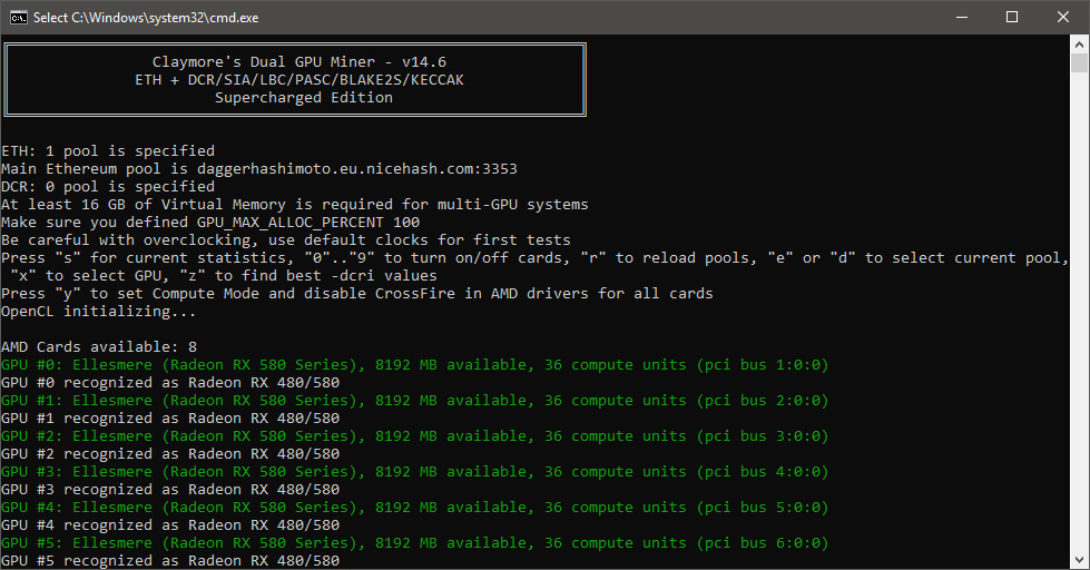 New Claymore Dual AMD and NVIDIA GPU Miner 14 6 Supercharged Edition