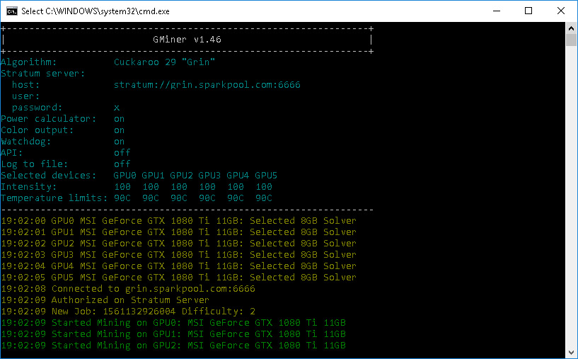 New GMiner v1 46 With Equihash 125,4 Support and Performance Boost