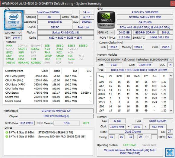 HWInfo 6.42 Shows GDDR6X Memory Temperature on Nvidia RTX 30 Series GPUs