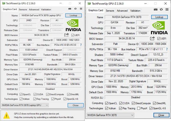 3070 desktop 3070 laptops