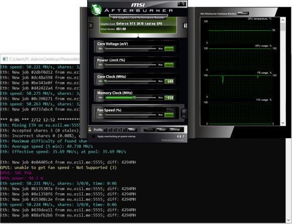 rtx 3070 laptop gpu mining optimized